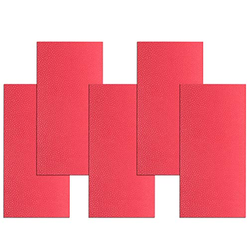 (Leather Repair Patch Adhesive 5 Pieces First Aid Patch for Sofa Car Seat Handbag Jackets (Red))