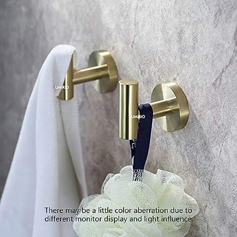 Amazon.com: Ganchos de acero inoxidable para toallas de baño ...