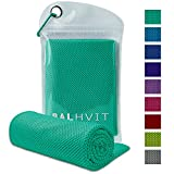 Balhvit Cooling Towel, Cool Towel for Instant Cooling Relief, Chilling Neck Wrap, Ice Cold Scarf For Men & Women, 47x14'', Microfiber Bandana - Evaporative Chilly Towel For Yoga Golf Travel Beach