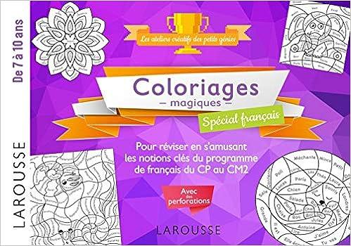 Coloriage Magique Francais Cp.20 Coloriages Magiques Special Francais 7 10 Ans Amazon Fr