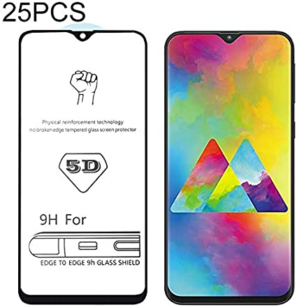 Huancement 25 PCS 9H 5D Full Glue Full Screen Tempered Glass Film for Oppo R15 F7 Phone Screen Protector