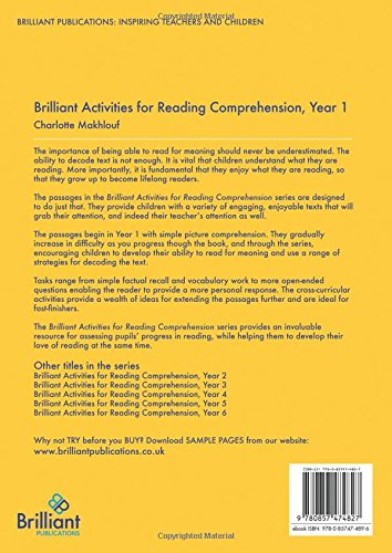 Brilliant activities for reading comprehension year 1 amazon brilliant activities for reading comprehension year 1 amazon charlotte makhlouf books ibookread PDF
