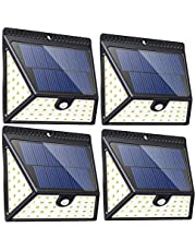 Solar Lights, Neloodony Solar Motion Sensor Security Lights Waterproof Solar Powered Light Outdoor Lights for Garden, Fence, Patio, Yard, Walkway, Driveway, Stairs, Outside Wall etc