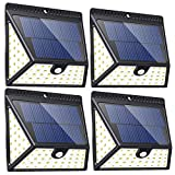 Upgraded 82 LED Solar Lights Outdoor, Motion Sensor Solar Led Security Lights, Wireless Waterproof Super Bright Wall Lights with Wide Angle Great for Front Door, Back Yard, Porch, Garage-4 Pack