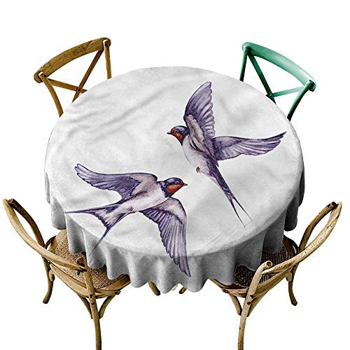 - sashimii Bird Restaurant tableclothTwo Flying Swallows CoupleD51 Indoor Outdoor Camping Picnic