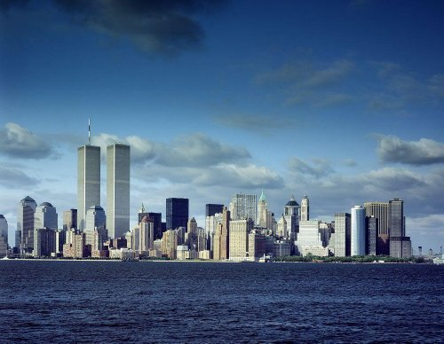 Photography Poster - World Trade Center Towers and New York skyline pre-9/11