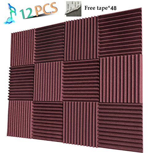 Acoustic Panels Studio Foam Sound Proof Panels Nosie Dampening Foam Studio Music Equipment Acoustical Treatments Foam 12 - Knife Burgundy Place Large