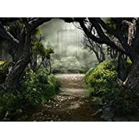 Yelewen 7x5ft Castle in Forest Lovers Thin Vinyl Customized Digital Printed Photography Backdrop Prop Photo Background