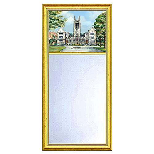 Boston College Eglomise Mirror with Gold Frame by M. LaHart
