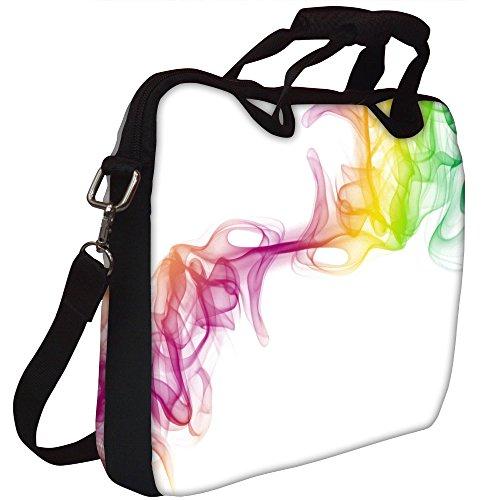 Snoogg Clolorful Smoke Gedruckt Notebook-Tasche mit Schultergurt 15 bis 15,6 Zoll