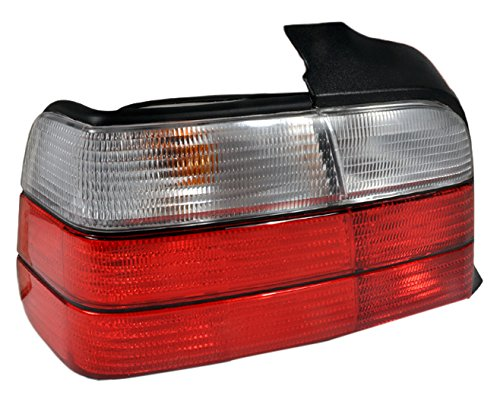Spec-D Tuning LT-E364RPW-DP BMW E36 3 Series 4dr Sedan Red/Clear Tail Lights (Red E36 Sedan)