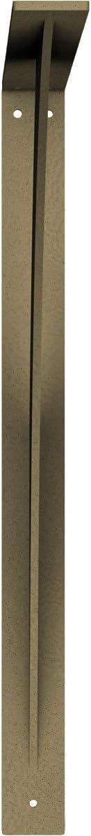 Hammered Dark Bronze Ekena Millwork BKTM02X18X18LEHDB 2 W D x 18 H Legacy Steel Bracket Renewed 2 Wx 18 Dx 18
