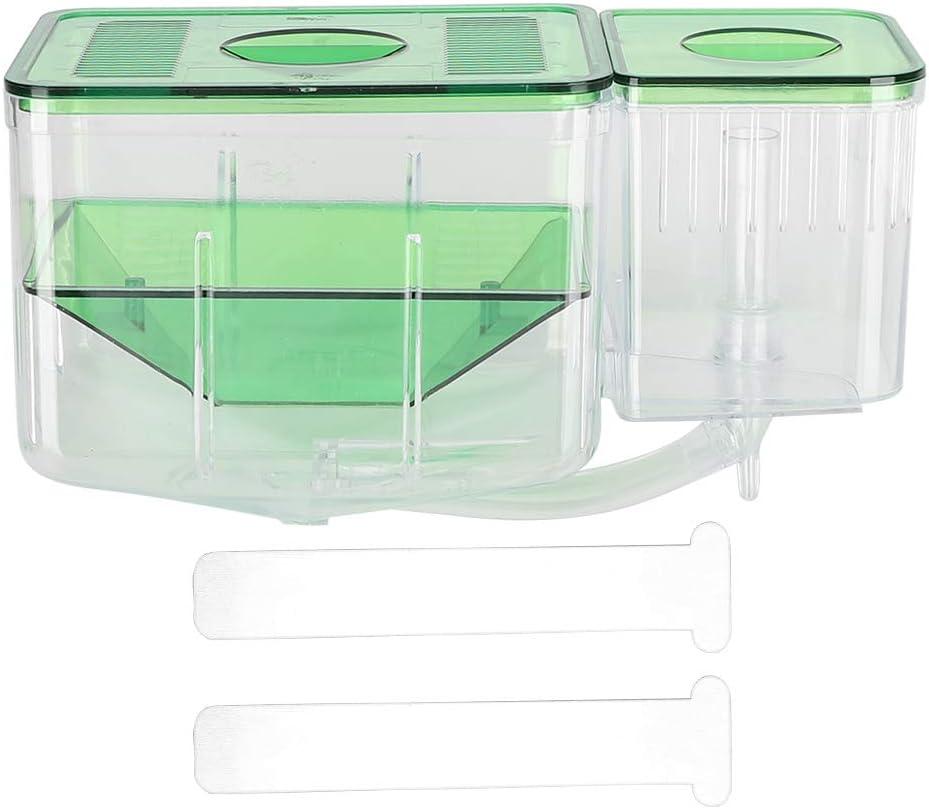 Sapone Acquario Serbatoi di Pesci Allevamento Box Piccolo Pesce Doppio Strato Isolamento Incubatore per Feriti Piccoli Pesci