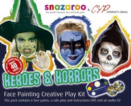 Snazaroo Face Paint Body Make-up Heroes And Horrors