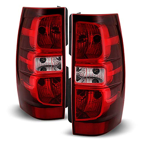 ACANII - For 2007-2014 Chevy Suburban Tahoe Tail Lights Brake Lamps Replacement Left+Right