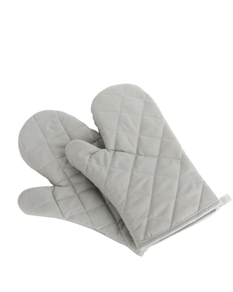 Nachvorn Oven Mitts, Premium Heat Resistant Kitchen Gloves Cotton & Polyester Quilted Oversized Mittens, New Gray