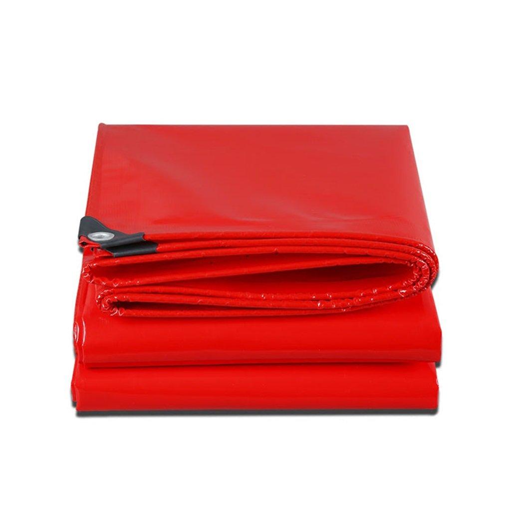 LQQGXL Rotes Hallo-Tuch Starkes regendichtes Wasserdichtes Sonnenschutzplanenisolierung abnutzungsBesteändiges rostfestes Wasserdichte Plane