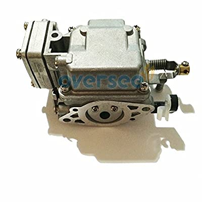 OVERSEE 6B4-14301-00 Outboard Carburetor For Yamaha Outboard Motor 9.9HP 15HP 2 stroke New model, Boat Motor Carburetor Assy, Replacement Carburetor Aftermarket Parts 6B4-14301