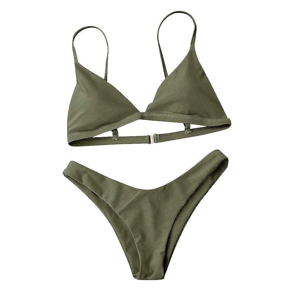 CSNK Bikini Conjunto Traje de baño Traje de baño Mujeres Push-Up Sujetador Acolchado Playa: Amazon.es: Ropa y accesorios