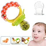 Amazon Price History for:Baby Feeder Pacifier Silicone Sac Teether Nibbler Soother for feeding food with Fresh Frozen Fruits as Teething Rattle Toy for infants toddlers babies without mesh bag. FREE E-BOOK