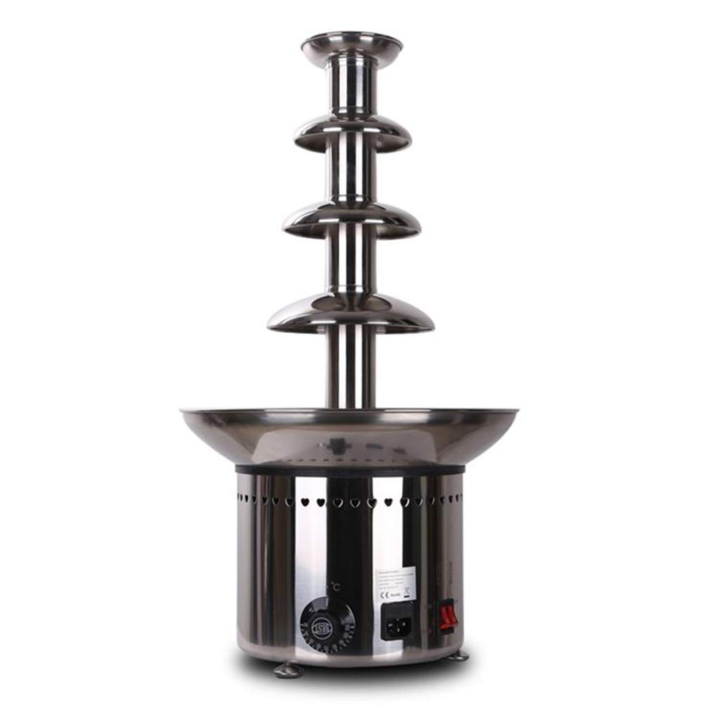 Socean Commercial chocolate fountain, waterfall machine five-layer spray tower automatic temperature control stainless steel kettle fountain waterfall. by Chocolate Fountain (Image #8)