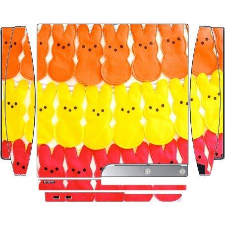 Candy Peeps Bunnys Yummy Playstation 3 / PS3 Slim Vinyl Deca
