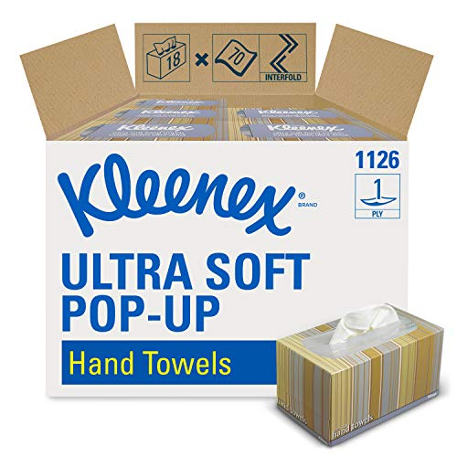 Kleenex Hand Towels 11268 Ultra Soft and Absorbent PopUp Box 18 Boxes  Case 70 Paper Hand Towels  Box 1260 Sheets  Case