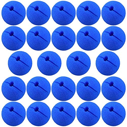 PartyYeah 24Pcs Red Foam Nose Circus Clown Nose, Novelty Clown Nose Value Pack for Circus Costume Party, Halloween, Red Nose Day, Activity Trick Toys, Cosplay & -