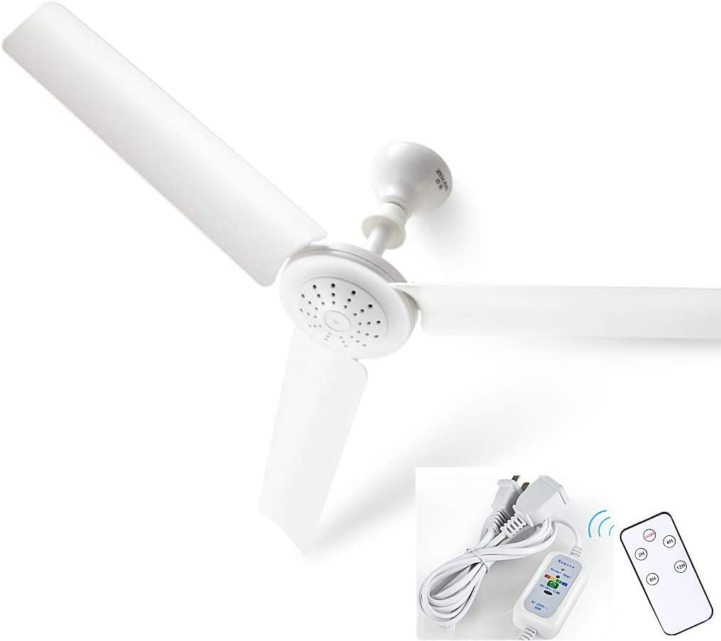 Fan Fan Ventilador De Techo, Silencioso Ventilador De Techo Brisa En La Cama, Se Puede Utilizar En La Escena del Comedor Oficina Habitación Dormitorio Claro, Blanco (Color : D)