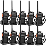 Retevis H-777S Two-Way Radios Long Range Rechargeable FRS Radio Vox Security Walkie Talkies with Earpieces and Chargers USB (10 Pack)