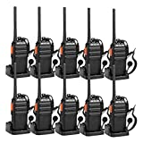 Retevis H-777S Two-Way Radios Long Range Rechargeable FRS Radio Vox Security Commercial Walkie Talkies with Earpiece Headset and Chargers for Adults (10 Pack)