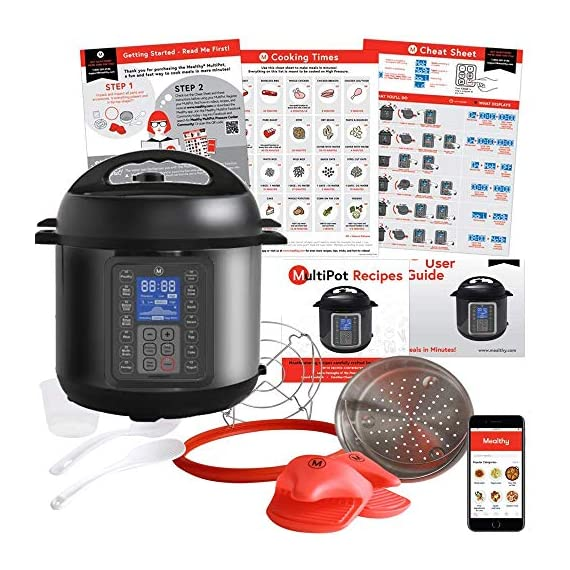 Mealthy MultiPot 9-in-1 Programmable Electric Pressure Cooker with Stainless Steel Pot, Steamer Basket and Instant Access to Mealthy Recipe App. Pressure Cook, Slow Cook, Saute & More (3 litres) 4