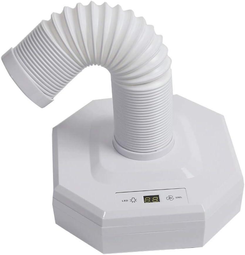 Electric Nail Drills 60W Aspirador de Uñas con luz LED Aspiradora Máquina del Arte Colección de Polvo Clavo Art Herramientas Retráctil Codo, White: Amazon.es ...