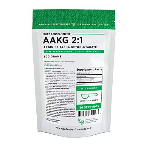 Cheap AAKG Powder – L-Arginine Alpha-Ketoglutarate – Muscle Strength (500g)