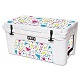 MightySkins Skin For YETI 65 qt Cooler - 90s Fun | Protective, Durable, and Unique Vinyl Decal wrap cover | Easy To Apply, Remove, and Change Styles | Made in the USA