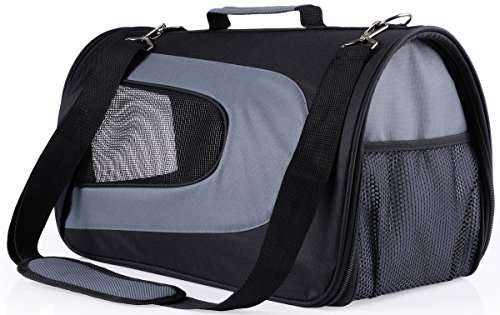[Dog Carrier Soft Sided Pet Travel Carriers Portable Bags for Dogs, Cats and Small Pets, Airline-Approved, Black] (Purse Pet Carrier)