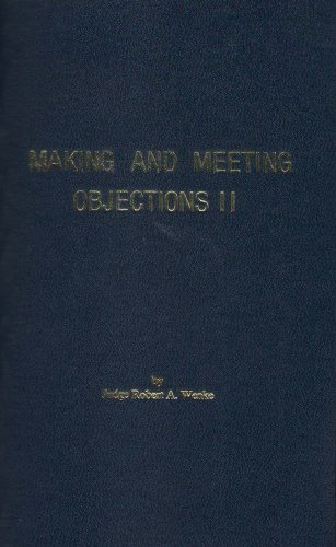 Making and Meeting Objections II