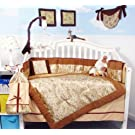 Golden Dragon Silky Baby Crib Nursery Bedding Set 13 pcs included Diaper Bag with Changing Pad & Bottle Case