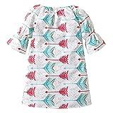 Infant Newborn Baby Girls Summer Dress Arrow Print A-Line Short Sleeve Skirt (Color # 1, 12-18 Months)