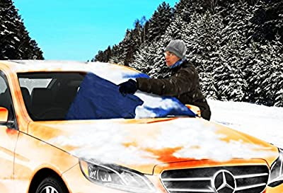 Zone Tech Car Windshield Cover Protector - Blue Snow Sleet Ice Cover Premium Quality Windshield Car Protector in a Self-Convertible Storage Pouch