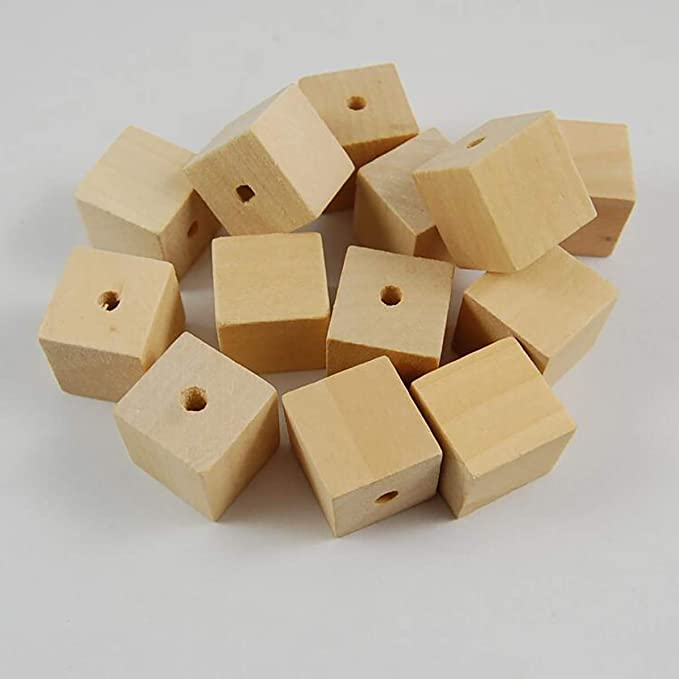 Choice of 25 or 50 piece set 12MM 12 in diameter Primitive Country Craft supply W3404 Unfinished Wood Bead