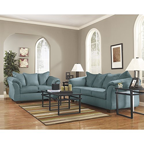 - Flash Furniture Signature Design by Ashley Darcy Living Room Set in Sky Microfiber