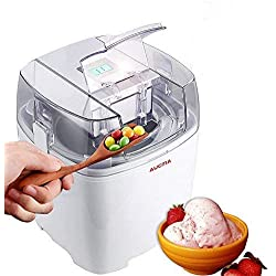 Aucma Ice Cream Maker, Ice Cream Machine, 1.5 Quart Gelato Maker Electric Frozen Yogurt, Sorbet and Soft Serve Ice Cream Maker Machine with LCD Timer for Home Kids, FDA Approved