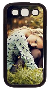 Nice Girl Photography PC Case Cover For Samsung Galaxy S3 SIII I9300 Black