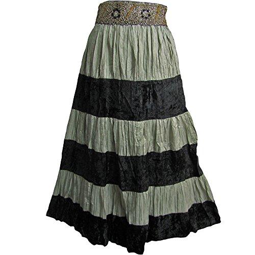 Velvet Patchwork Skirt - 9
