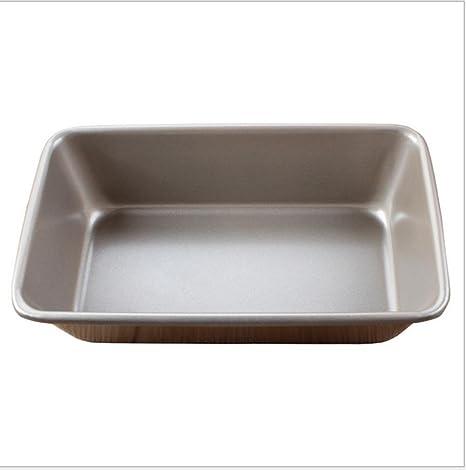 Pan tostado rectangular espesado oro molde molde hornear sartén antiadherente revestido pan molde 350g