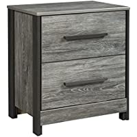 Cazenfeld Two Drawer Night Stand Black/Gray/Contemporary