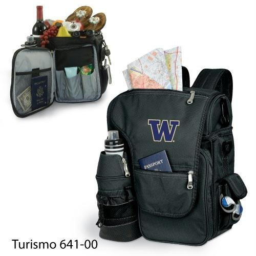 Washington Huskies Tailgate Cooler (Picnic Time 641-00-175-622-0 University of Washington Embroidered Turismo Tote Bag, Black)