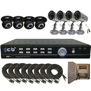 CIB K808W500G8653-8401 8CH Network Security Surveillance DVR 500GB 8 CCD Came...
