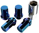 Kics WHPC01 Heptagon Caliber 24 Titanium Blue (12mm x 1.5 Thread Size) Lug Nut, (Set of 20)